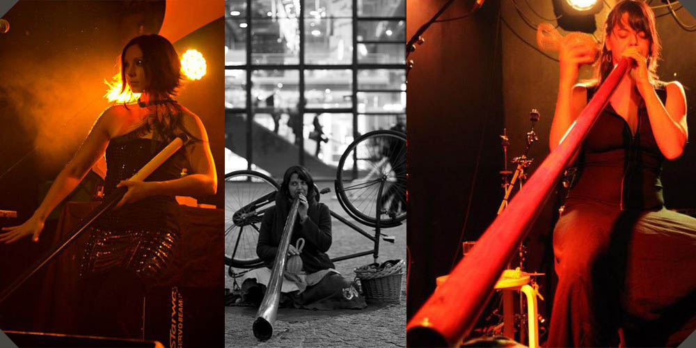 Well known women didgeridoo players: Agustina Mosca and Adèle